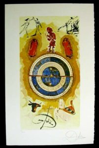 Salvador Dali - Lyle Stuart Tarot Cards - Wheel of Fortune