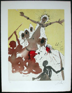 Salvador Dali - Individual Aliyah Lithographs for Sale - Arise, Barak, and lead