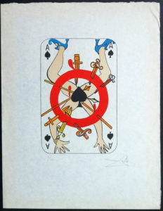 Salvador Dali - Playing Cards - Playing Cards Spades
