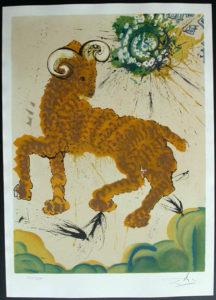 Salvador Dali - Twelve Signs of the Zodiac - Aries