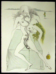 Salvador Dali - Dali Illustre Casanova - Nude Couple, Large Serpent