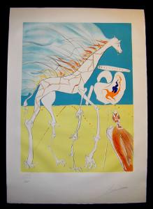 Salvador Dali - The Conquest of the Cosmos II - Saturnalian Giraffe