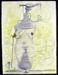 Salvador Dali - Dali Illustre Casanova - Large Flask