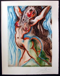 Salvador Dali - Dalinean Horses - Le femme cheval