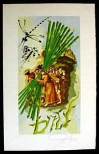 Salvador Dali - Lyle Stuart Tarot Cards - Ten of Staves