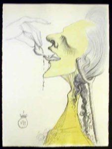 Salvador Dali - Dali Illustre Casanova - Bird on Tounge