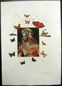 Salvador Dali - Memories of Surrealism - Surrealist Portrait of Dali Surrounded by Butterflies
