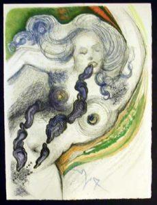 Salvador Dali - Dali Illustre Casanova - Oysters and Nude