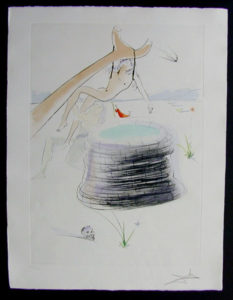 Salvador Dali - Our Historical Heritage - Joseph drypoint etching