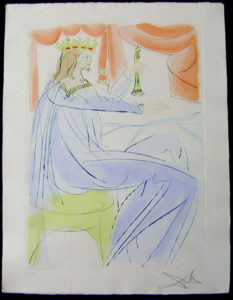 Salvador Dali - Our Historical Heritage - King Solomon drypoint etching