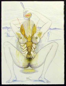 Salvador Dali - Dali Illustre Casanova - Nude and Lobster