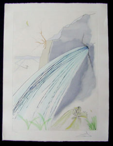 Salvador Dali - Our Historical Heritage - The Rock drypoint etching