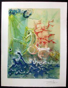 Salvador Dali - Dalinean Horses - Neptune