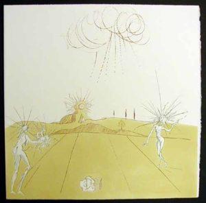 Salvador Dali - Neuf Paysages - Paysage avec Figures