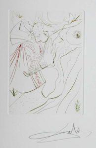 Salvador Dali - Le Decameron - Le Peche partage