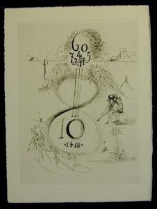 Salvador Dali - Secret Poems by Guillaume Apollinaire - The War 1914 - 1918