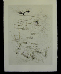 Salvador Dali - Secret Poems by Guillaume Apollinaire - The Trenches