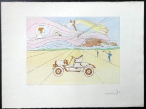 Salvador Dali - Hommage to Leonardo da Vinci - Automobile
