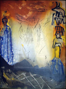 Salvador Dali - Moise et Monotheisme - Nightmare of Moses Le cauchmar de Moise