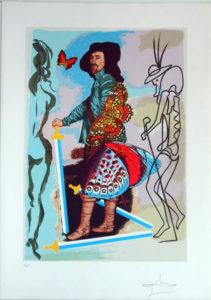 Salvador Dali - Papillons Anciennes - Coutier (five of swords)