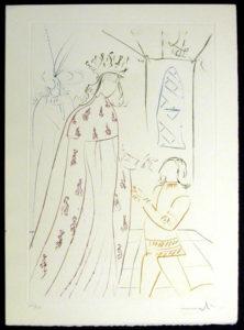 Salvador Dali - La Quete du Graal - The Knighting of Lancelot