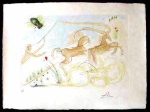 Salvador Dali - Le Bestiaire de La Fontaine - Le Coche et le Mouche