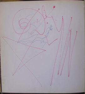 Salvador Dali - Dali by Max Gerard - Original drawing