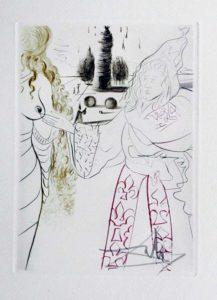 Salvador Dali - Le Decameron - La femme adultere