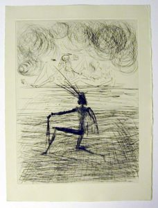 Salvador Dali - Faust - Chevalier a genou