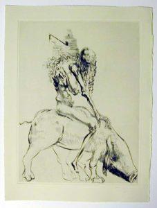 Salvador Dali - Faust - Femme au cochon