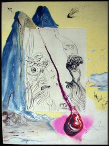 Salvador Dali - Moise et Monotheisme - The Tear of Blood La Lang de Sang