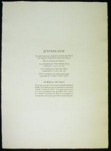 Salvador Dali - Aurelia - Justification