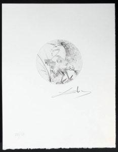 Salvador Dali - Les Metamorphoses Erotiques - Etching, La Chimere