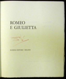Salvador Dali - Romeo and Juliet - Title Page w/signature