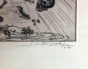 Salvador Dali - St. George and the Dragon - Signature