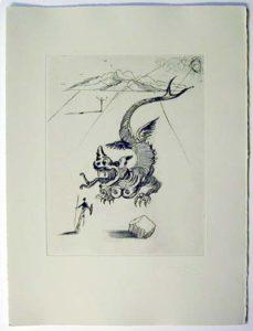 Salvador Dali - Poemes de Mao-tse-toung - The Green Dragon