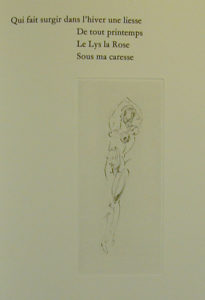 Salvador Dali - Secret Poems by Guillaume Apollinaire - From Nude with Snail
