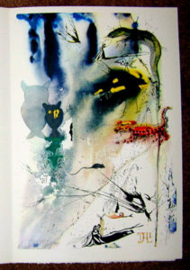 Salvador Dali - Alice in Wonderland - A Caucus Race and a Long Tale