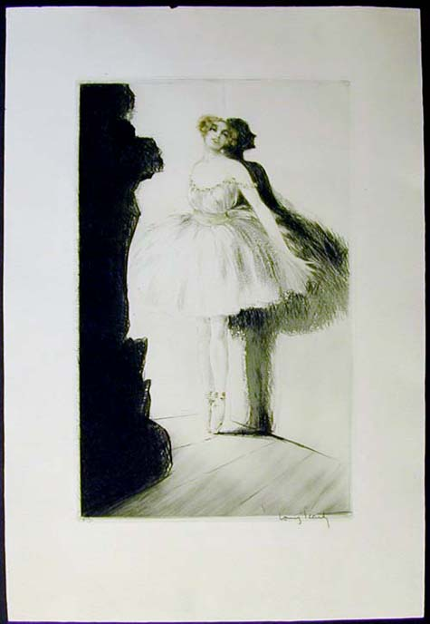 Louis Icart Ballerina in the Wings