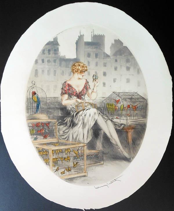 Louis Icart Bird Seller