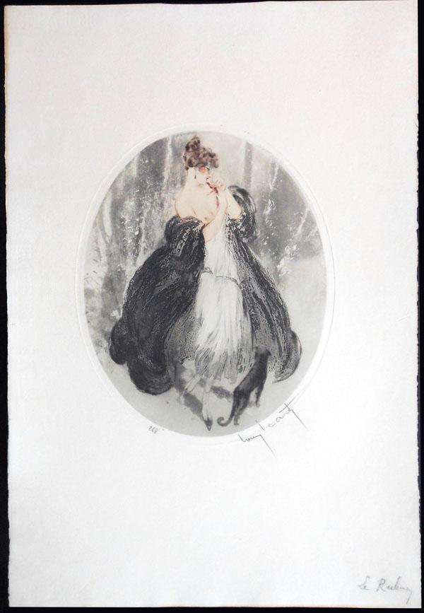 Louis Icart Black Lace
