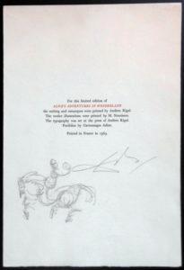Salvador Dali - Alice in Wonderland - Drawing