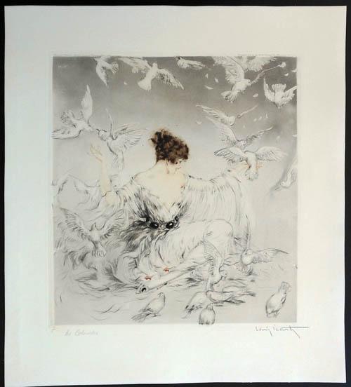 Louis Icart Doves