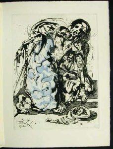Salvador Dali - La Vida es Sueno, Life is a Dream - Figure in Chains