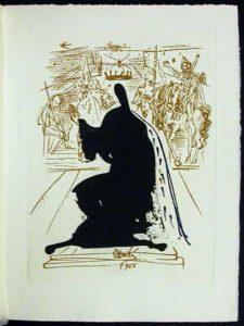 Salvador Dali - La Vida es Sueno, Life is a Dream - Figure in an Ermine Cloak