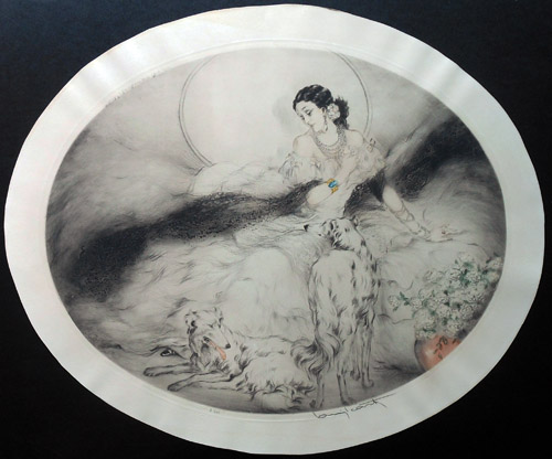 Louis Icart Lady of the Camilias