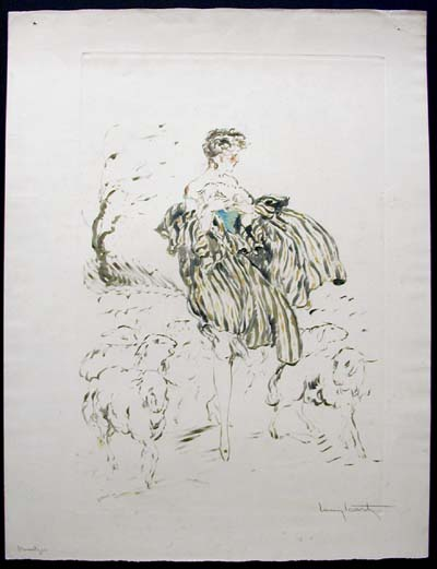 Louis Icart Little Bo Peep artist's proof