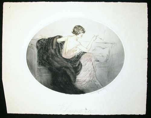 Louis Icart Lounging