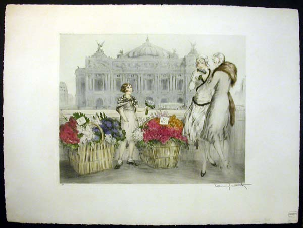Louis Icart Paris Flowers