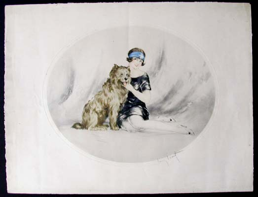 Louis Icart Sheep Dog